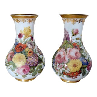 French Baccarat Opaline Crystal Vases by Jean-Francois Robert - a Pair