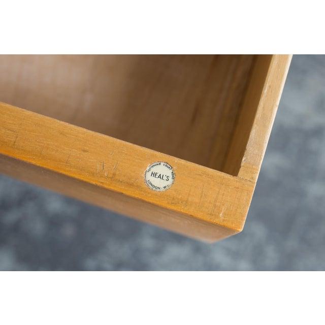 Heals Three Drawer Oak Vanity Desk - Image 8 of 8