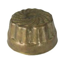 Image of Vintage Small Brass Round Kitchen Mold