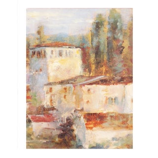 Tuscan Village Oil Painting