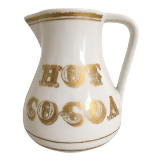 """Vintage Ironstone """"Hot Cocoa"""" Pitcher"""