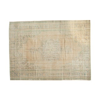 "Vintage Distressed Oushak Carpet - 7'7"" x 10'2"""