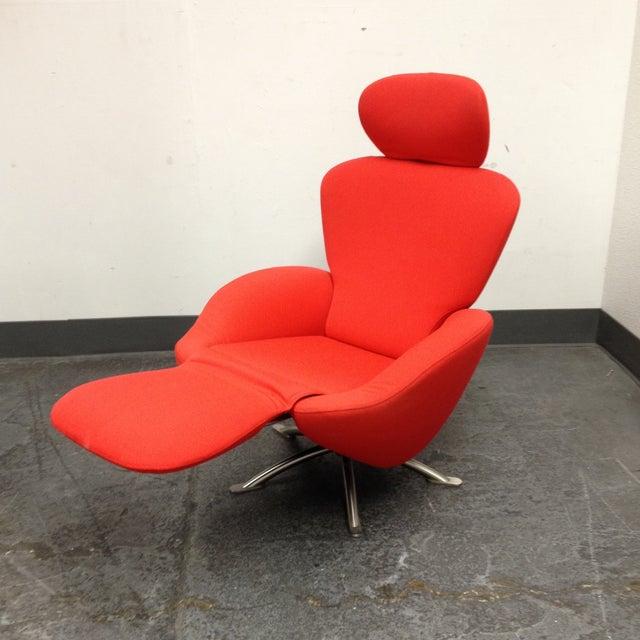 cassina red k10 dodo swivel armchair chairish. Black Bedroom Furniture Sets. Home Design Ideas