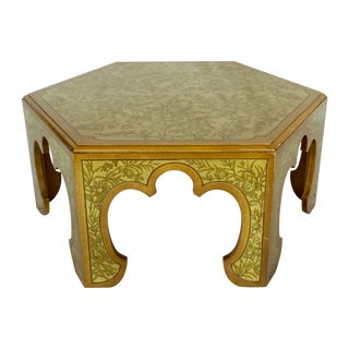 Carved Moroccan-Style Arched Coffee Table