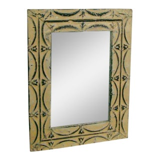 Forged Metal & Wood Wall Mirror