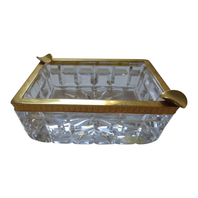 Baccarat French Cut Glass & Gilt Ash Tray - Image 1 of 5