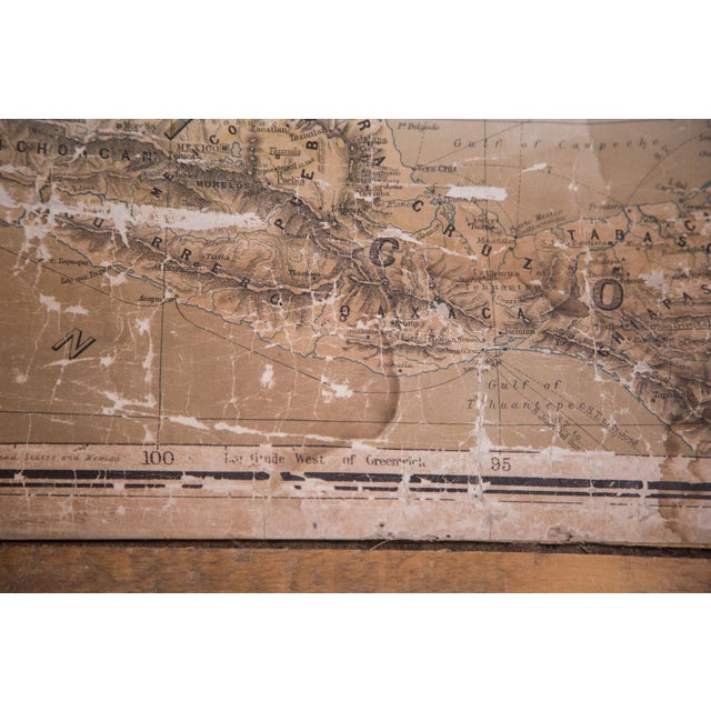 USA & Mexico Antique Pull Down Map - Image 6 of 10