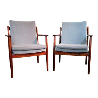 Arne Vodder for Sibast Danish Mid-Century Modern Lounge Chairs - a Pair