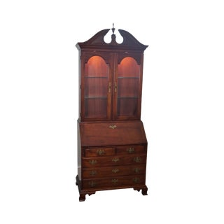 Stickley Chippendale Style Solid Mahogany Secretary Desk