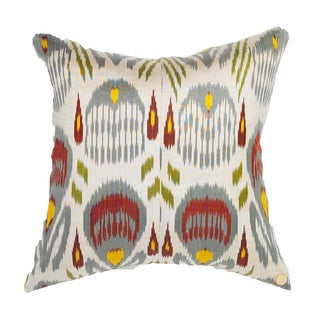 Mulit-Colored Silk Ikat Accent Pillow
