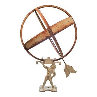 Mid-Century Atlas Iron Armillary Sundial