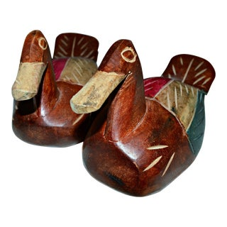 Carved Wooden Decoys - A Pair