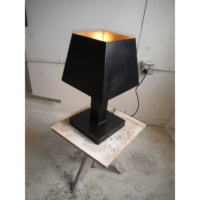 Deco Inspired Steel/Bronze Concorde Table Lamp #2 - Image 3 of 5