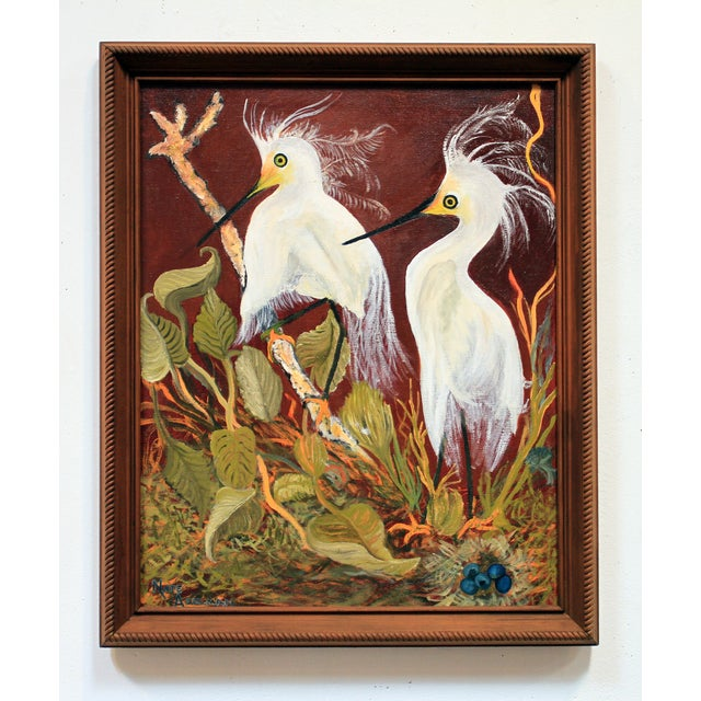 """""""Birds of a Feather"""" Original Oil Painting - Image 2 of 7"""