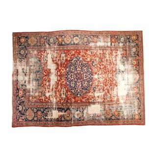 "Antique Distressed Ziegler Sultanabad Carpet - 9'9"" X 13'3"""