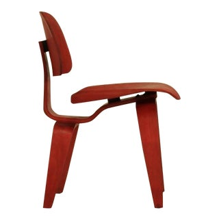 Eames DCW in aniline red for Evans