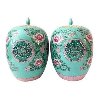 Famille Verte Ginger Jars - A Pair