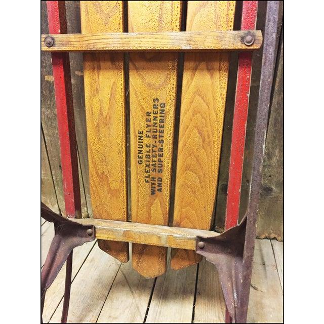 Vintage Weathered Wood & Metal Runner Sled -- Flexible Flyer Model 51J - Image 11 of 11