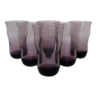 Crisa Purple Glass Tumblers - Set of 6