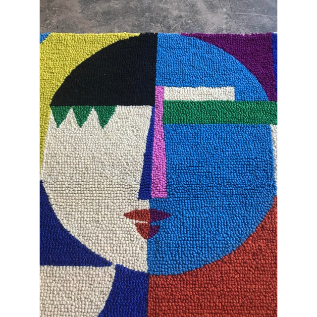 Limited Edition Female Abstract Color Block Rug Wall Hanging Textile - Image 2 of 6