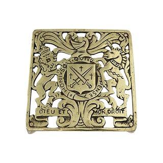 English Brass Royal Crest Trivet