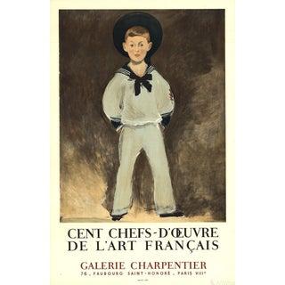 """Edouard Manet """"Cent Chefs-d'Oeuvre De l'Art Francais"""" 1961 Lithograph"""