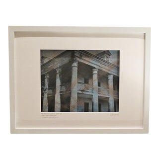 """The Massive Columns"" Framed Hand- Colored Photographic Print"