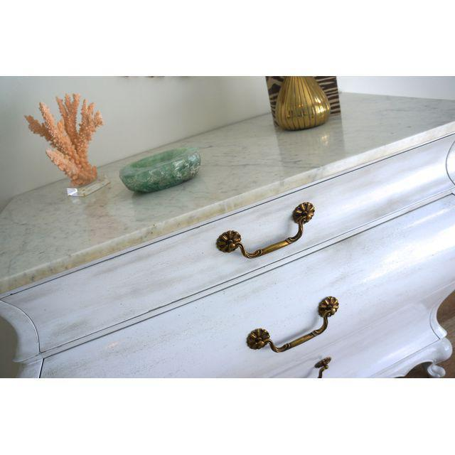 White Marble Top Commode by Grosfeld House - Image 7 of 9