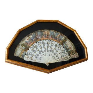 18th Century Shadowbox Framed Opera Fan