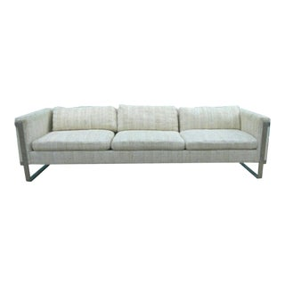 Milo Baughman Flat Chrome Bar Sofa