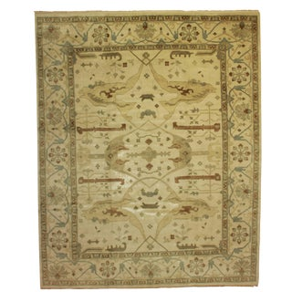 RugsinDallas Hand Knotted Wool Indian Oushak Style Rug - 11′11″ × 14′9″
