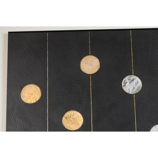 Art Wall Panel with Texture and Rock Crystal by Paul Marra - Image 6 of 11