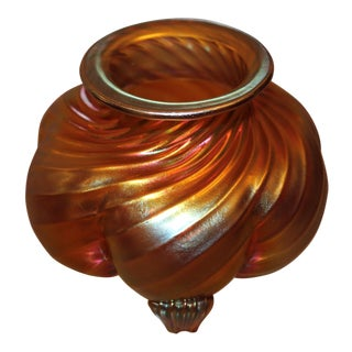 1930's Art Deco Steuben Gold Aurene Signed Petite Vase