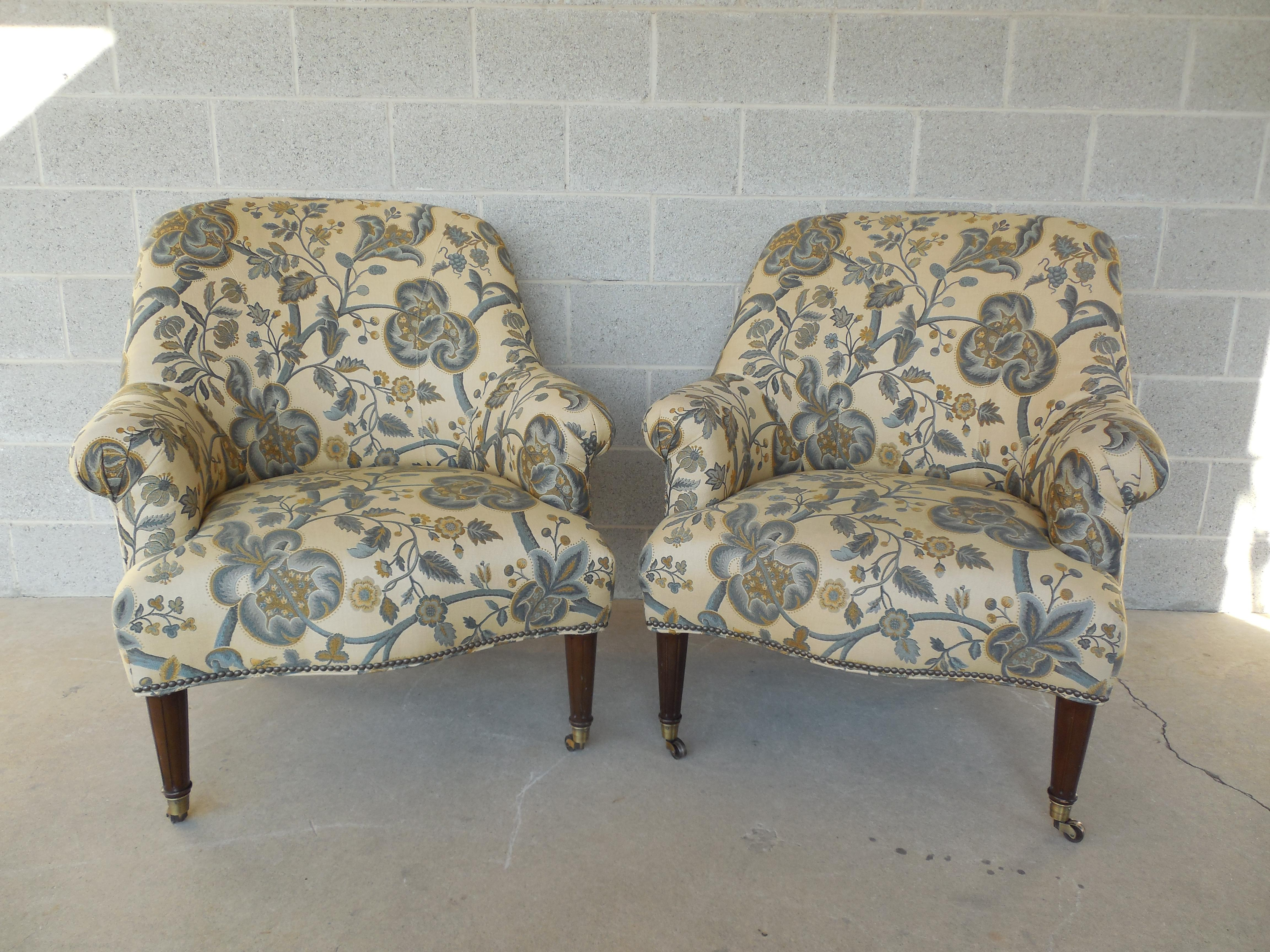 Kravet Furniture Regency Style Accent Club Chairs   A Pair   Image 2 Of 11