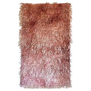 """Vintage Tulu Pink Turkish Rug - 4'1"""" x 6'6"""""""