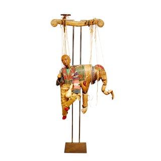 Large Antique Wooden Elephant Puppet