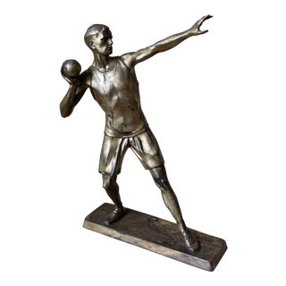 Silver Spelter Athlete Figure