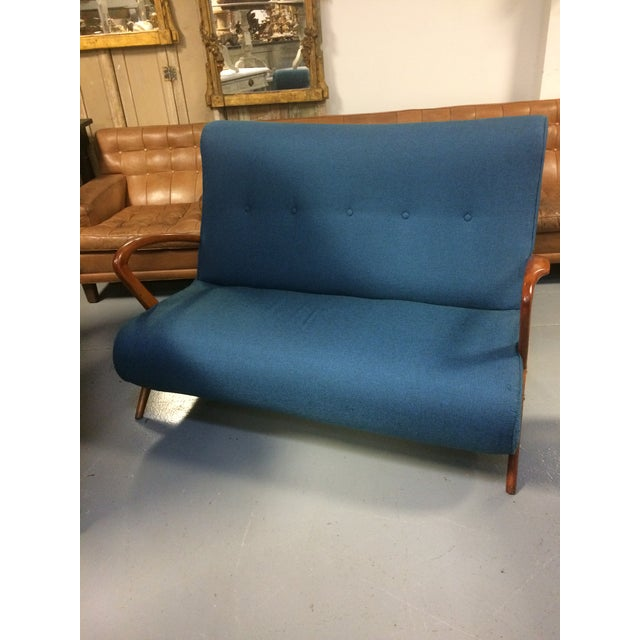 French Mid Century Modern Settee - Image 4 of 11