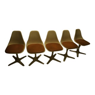 Burke Mid-Century Modern Dining Table & Propeller Base Chairs