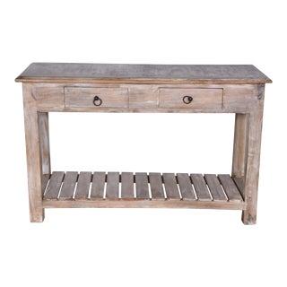 Whitewashed Mango Wood Console Table