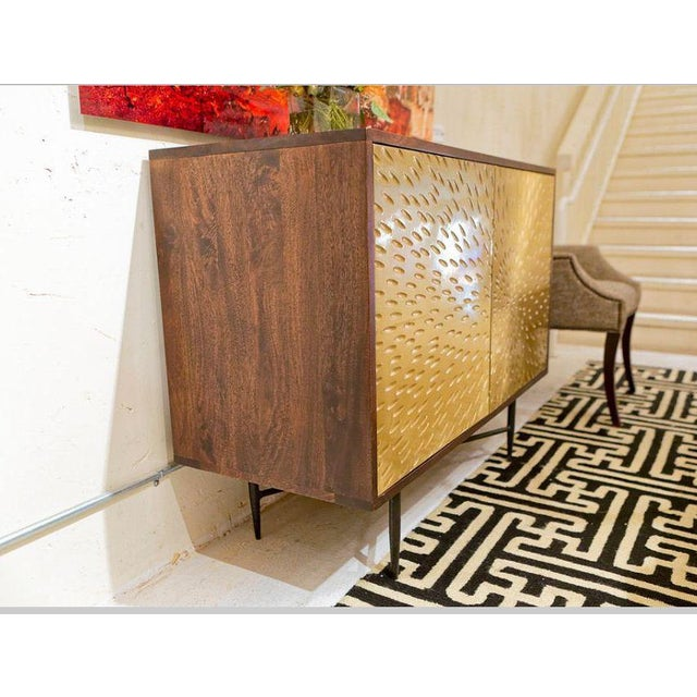 Contemporary Wooden Metal Living Room Cornell Chest Cabinet - Image 9 of 10