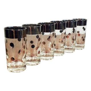 Dorothy Thorpe Silver Dot Tall Glasses - Set of 6