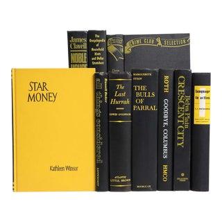 Midcentury Yellow & Black Book Set, S/10