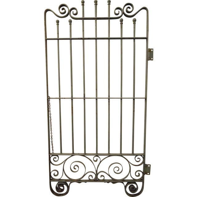 Petite Vintage French Garden Gate - Image 1 of 4