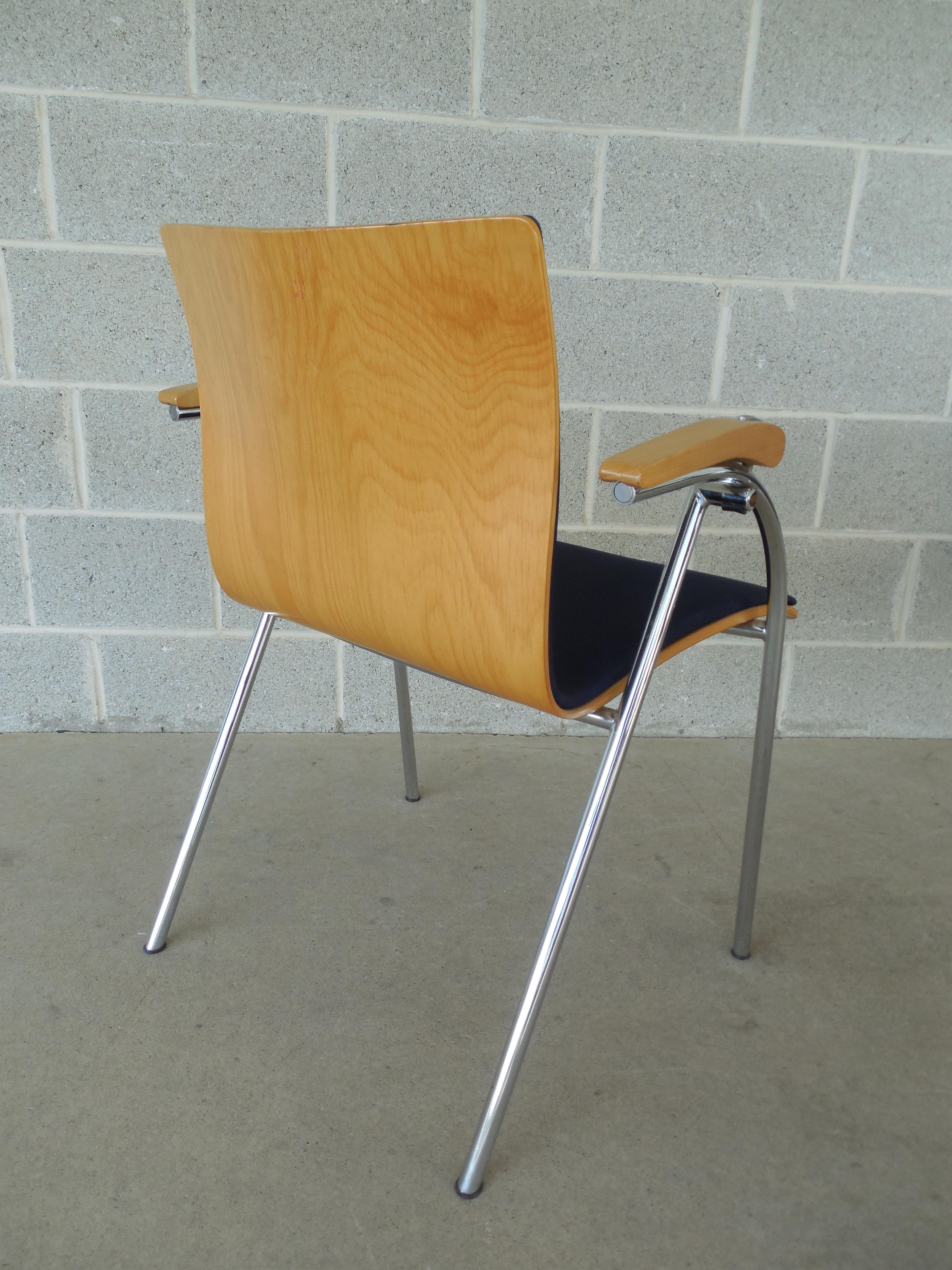 Thonet Chrome U0026 Bent Wood Chairs   Set Of 6   Image 4 ...