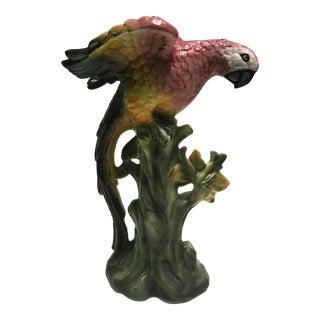 Life-Size Italian Porcelain Parrot Statue