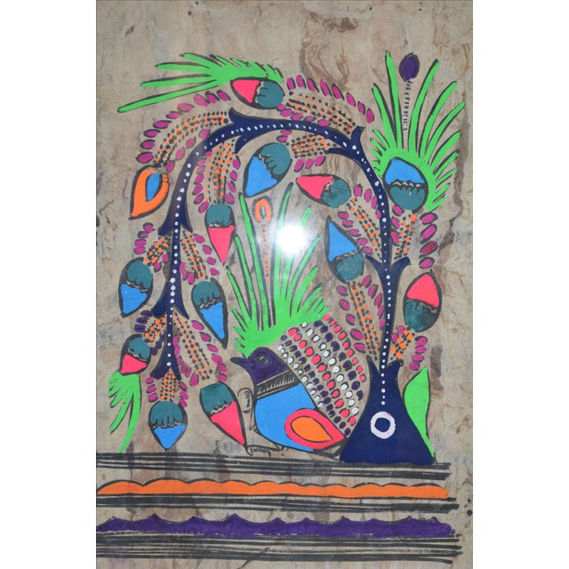 Image of Otomi Mexican Folk Art Amate Painting