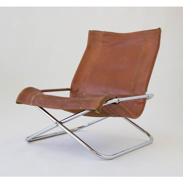 Designer Sling Chairs: Sueki Uchida Leather Sling Chair