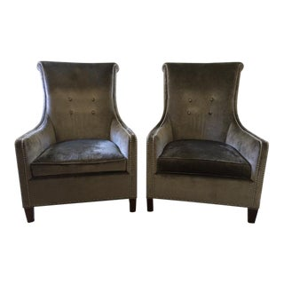 "Luxe Stickley ""Ritz"" Chairs - a Pair"