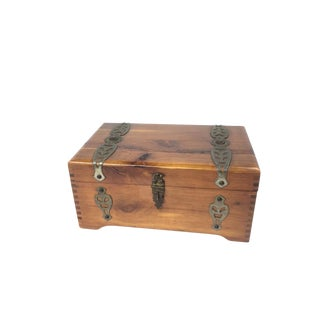"McGraw Box Co. Wooden""Mary Lu"" Jewelry Box"